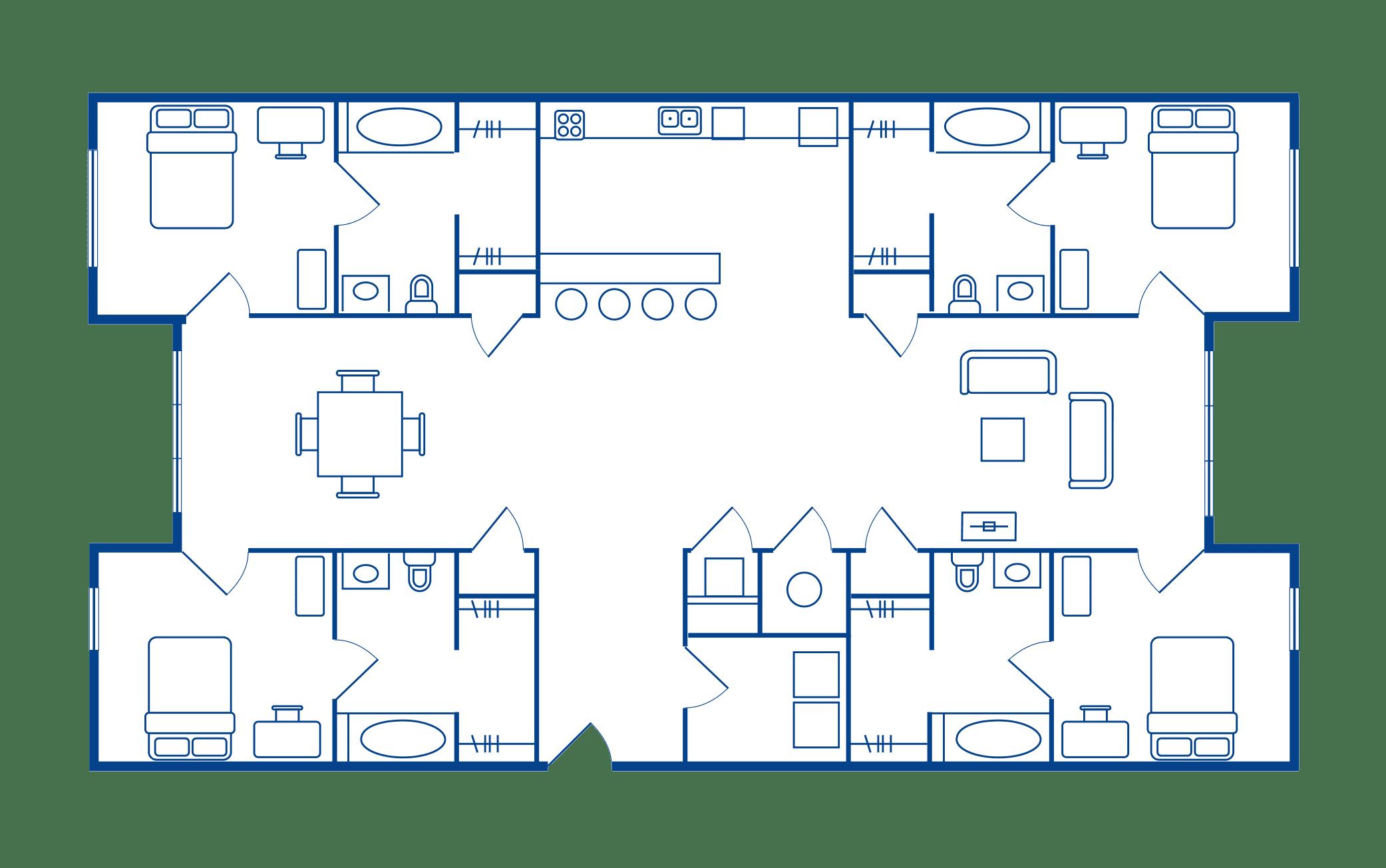 4 Bedroom & 4 Bath Apartments Near Sacramento