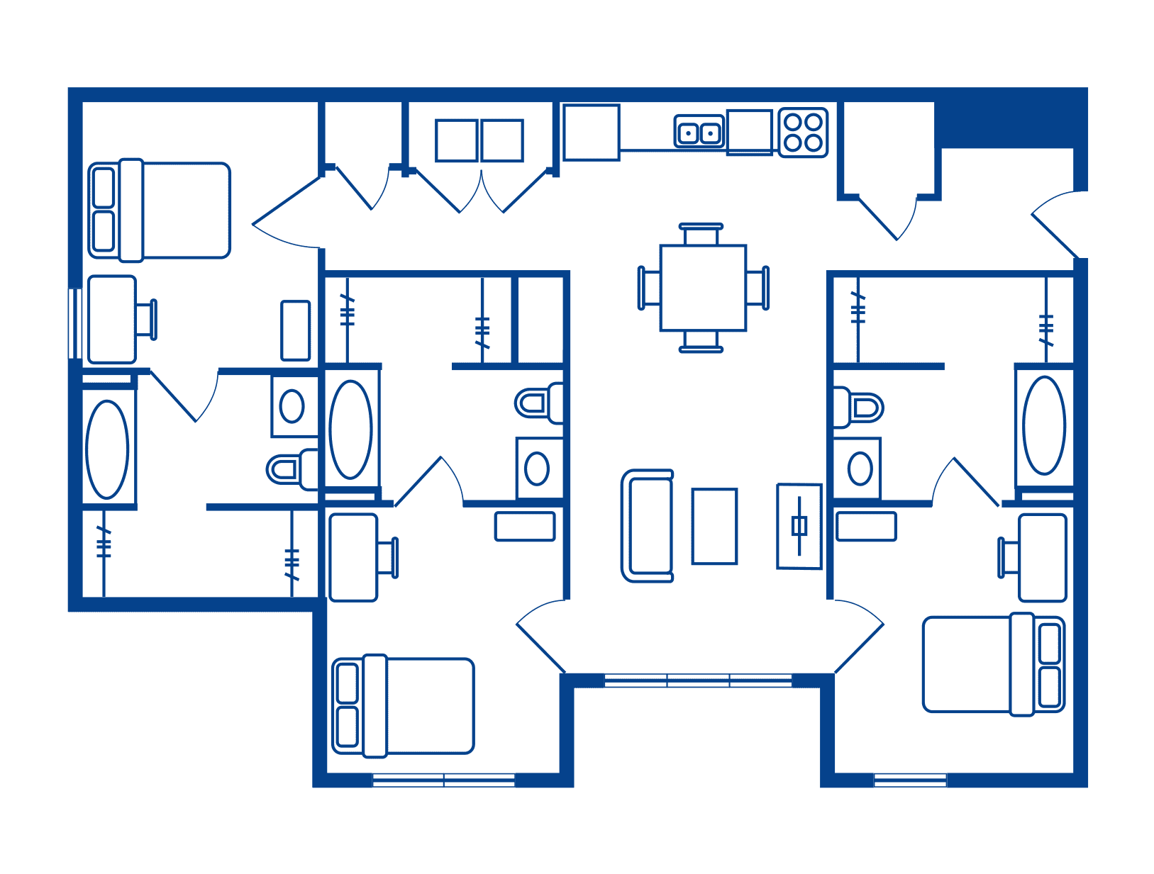 3 Bedroom & 3 Bath Apartments Near Sacramento